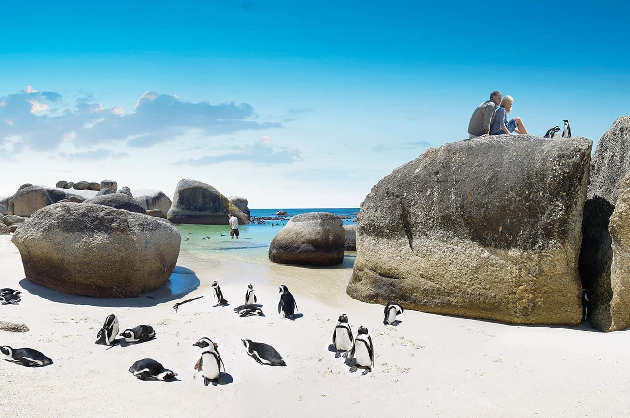 Boulders Beach, África do Sul