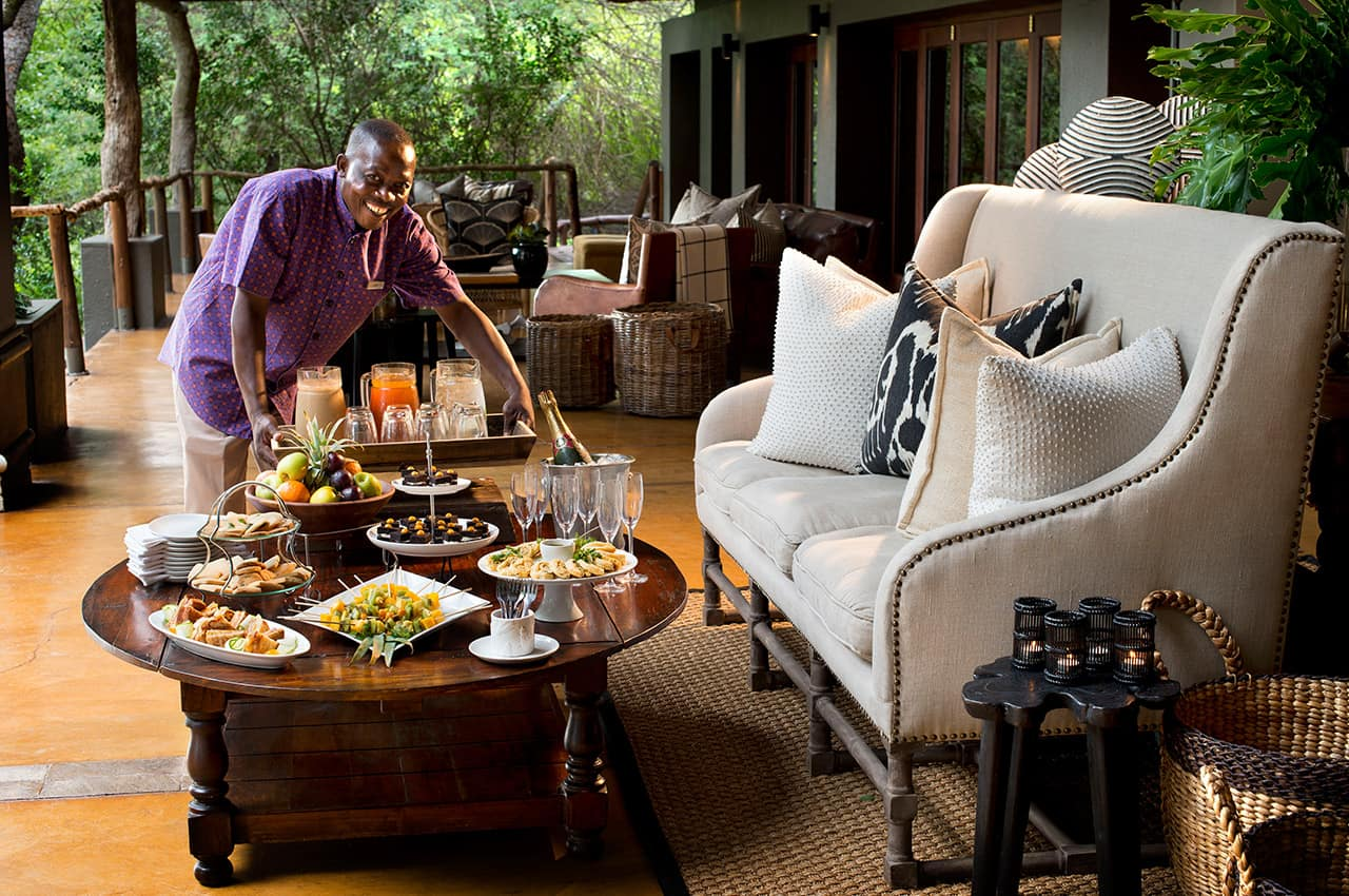 High tea no Tinga Lodge