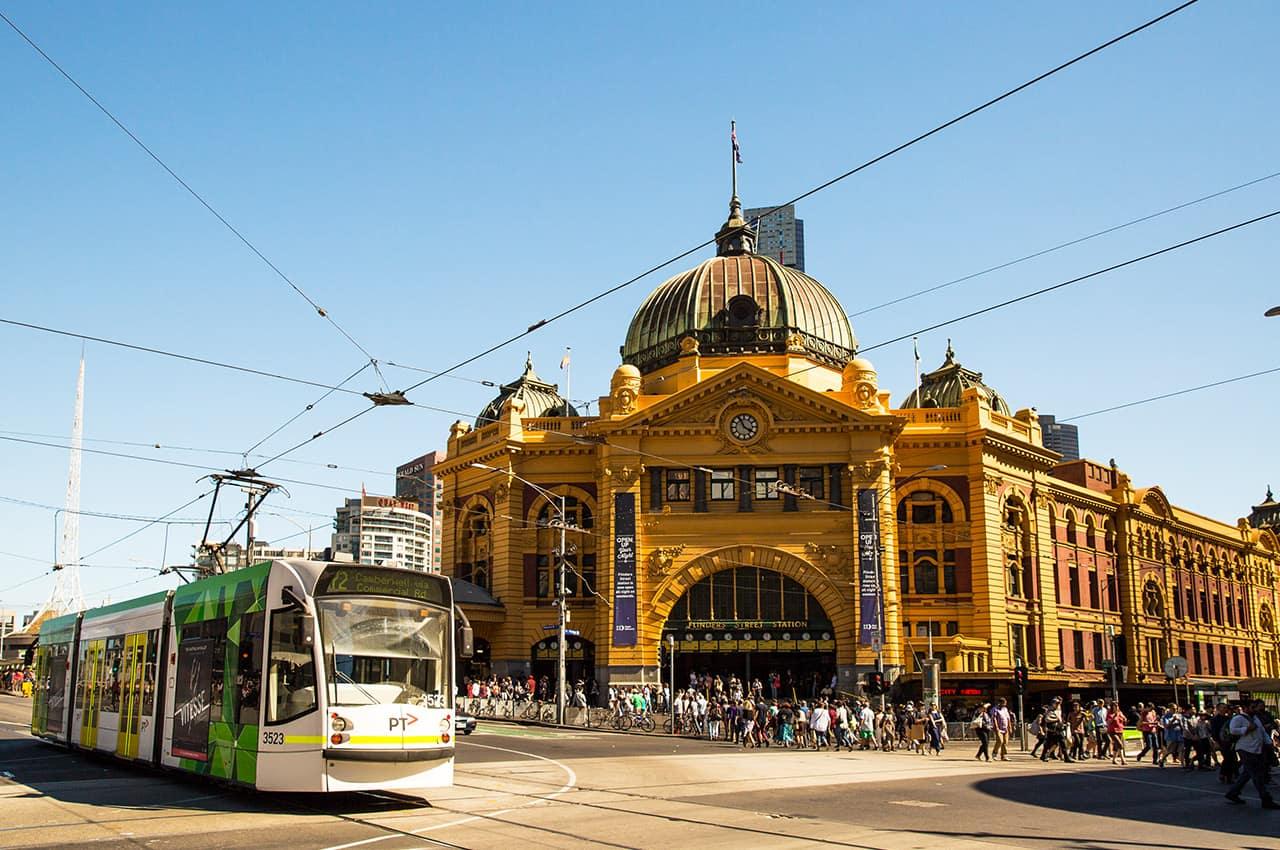 Flinders Station, Melbourne, Austrália