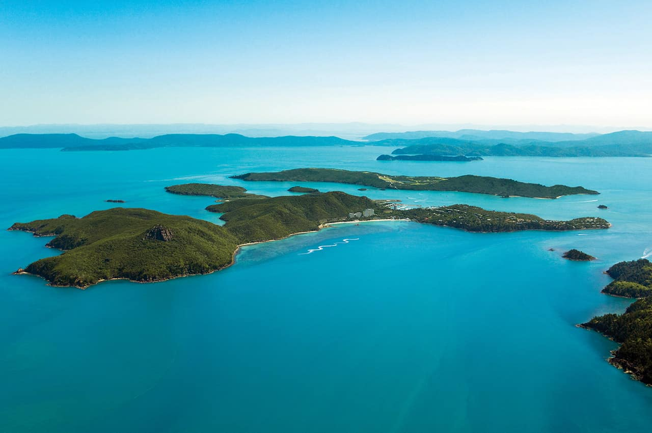 Vista aérea Hamilton Island, Austrália