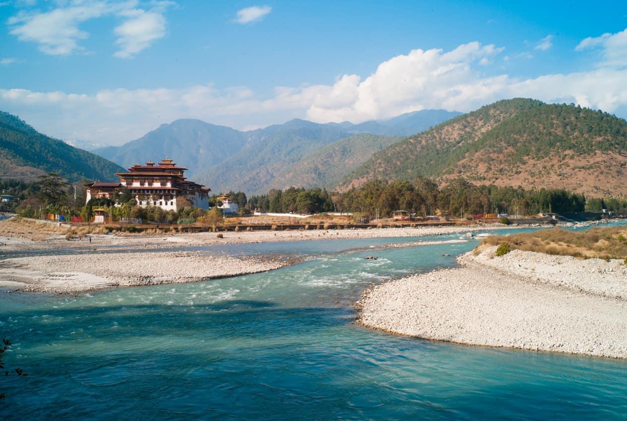 Monastério Punakha Dzong Butão
