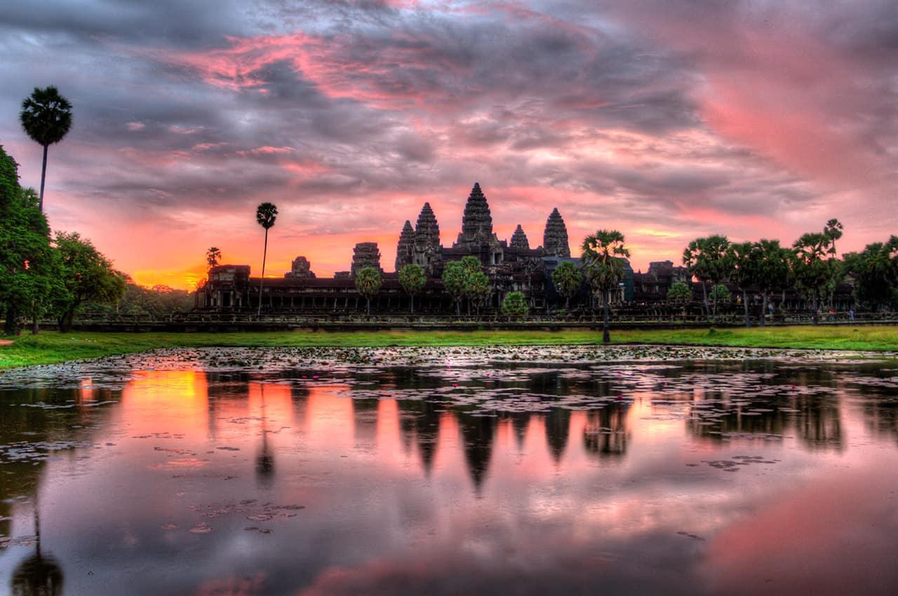 Entardecer em Angkor Wat