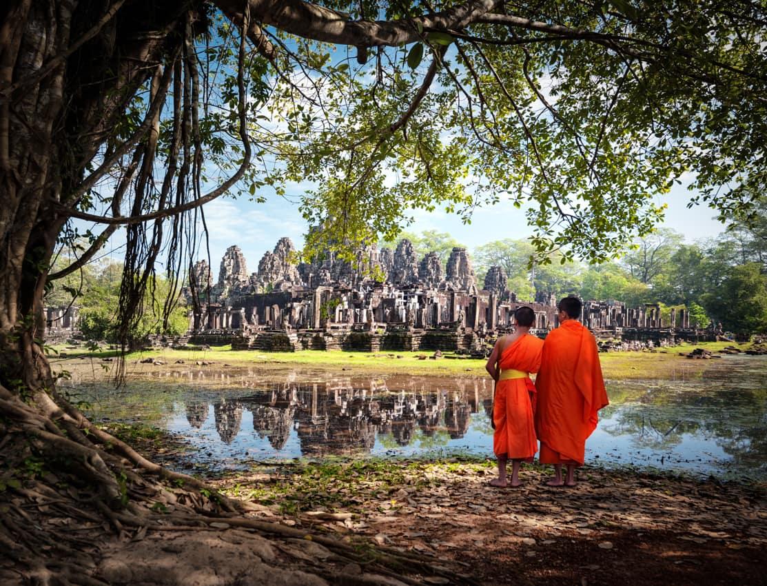 Monges Angkor Wat Camboja