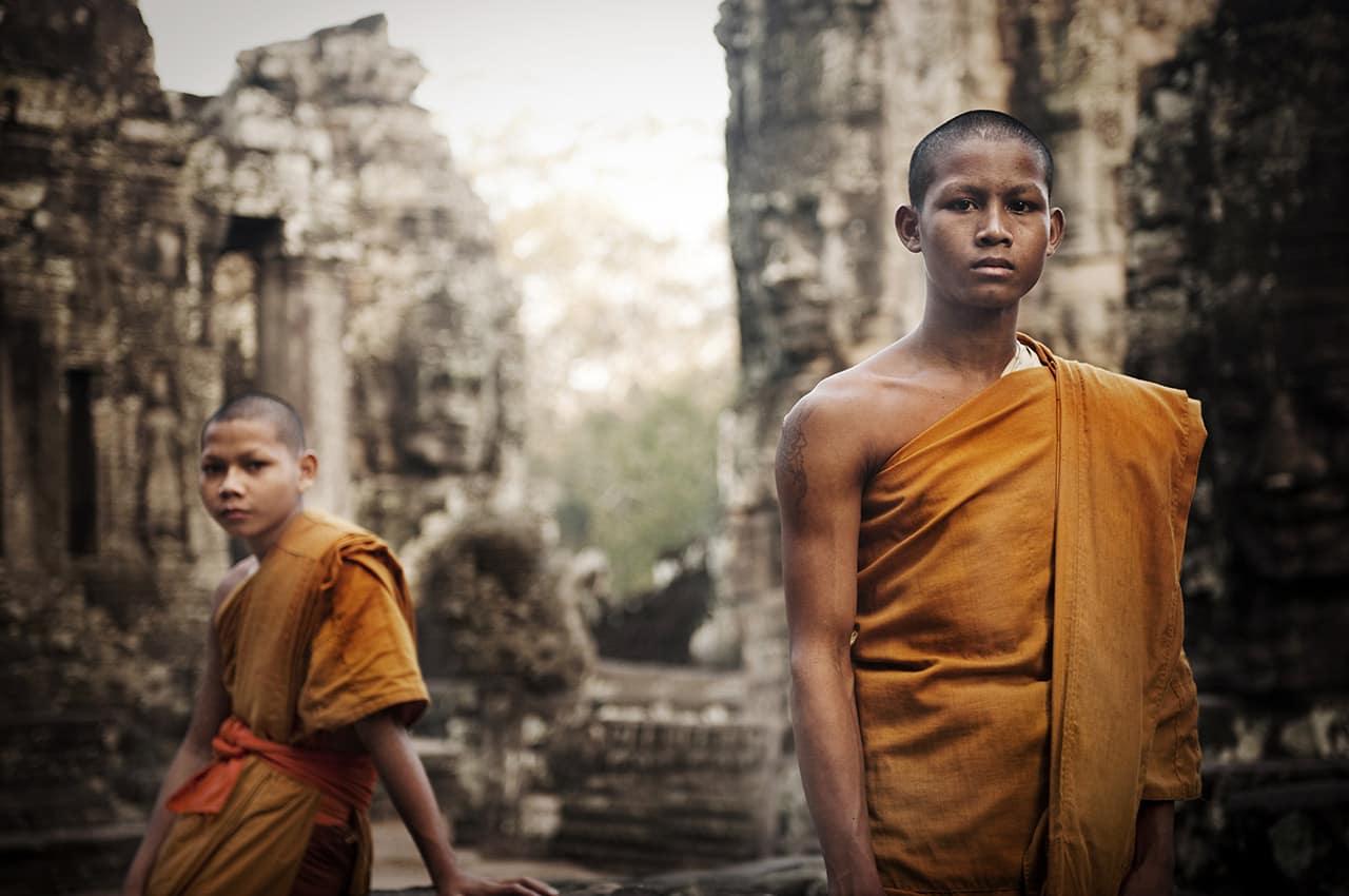 Monges em Angkor - Camboja