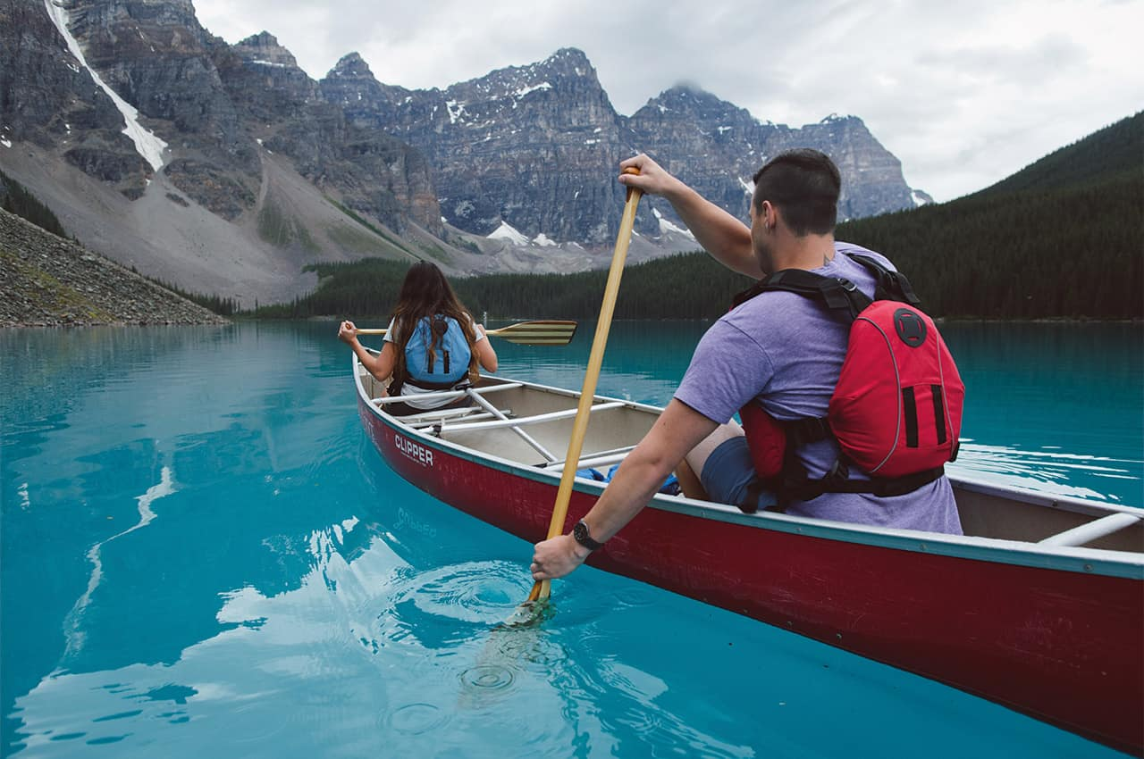 Canoagem no Banff National Park