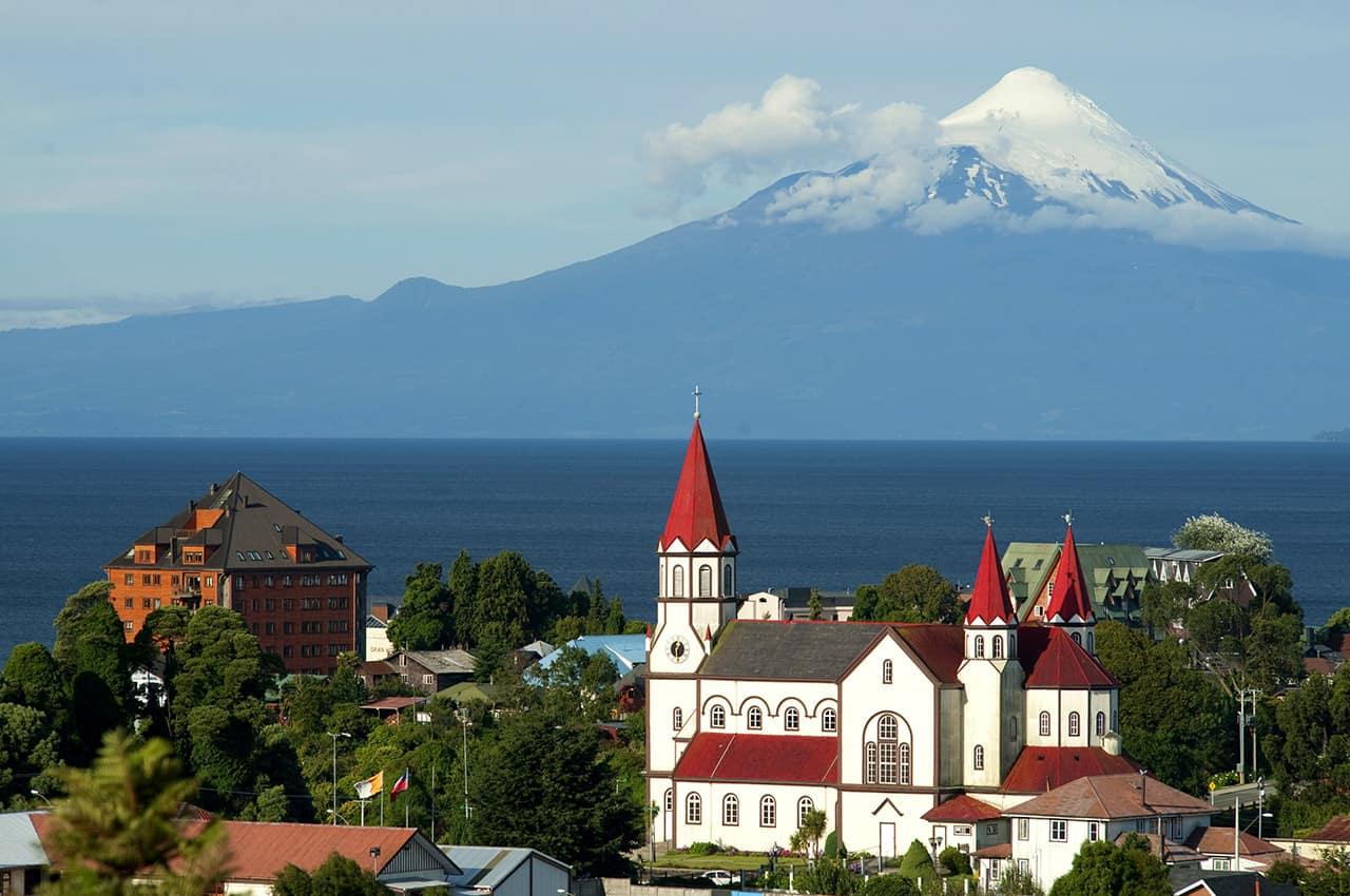 Vista aérea Puerto Varas, Chile Turismo