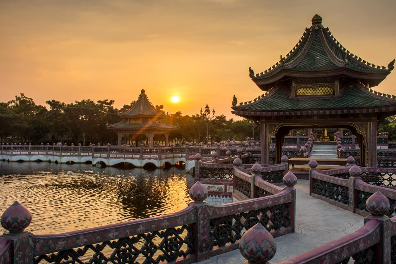 Atrativo turístico arquitetura chinesa