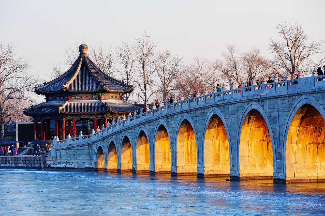 Palácio Verão Yiheyuan Kunming Lake Pequim China