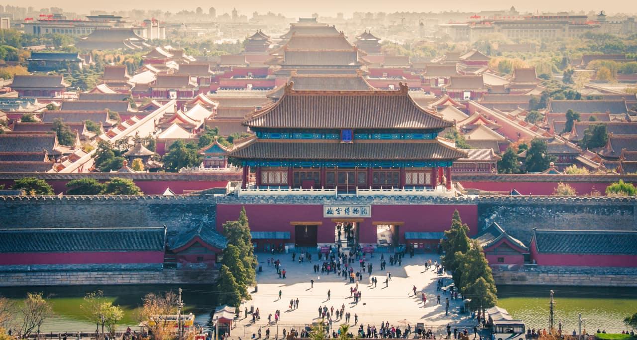Vista aéra Cidade Beijing China