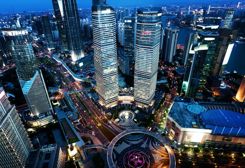 Vista aérea Cidade Shanghai China