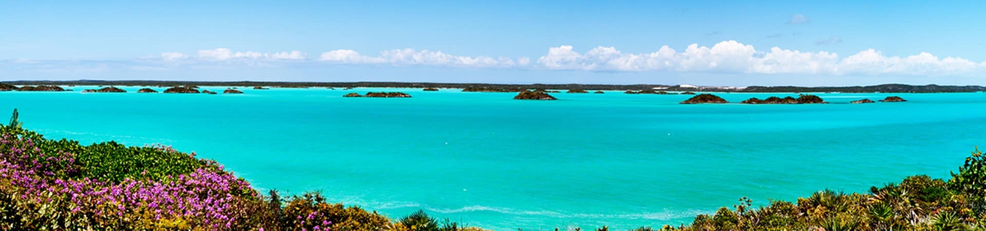 Lagoa azul, Parque Nacional Chalk Sound, Providenciales, Turks and Caicos