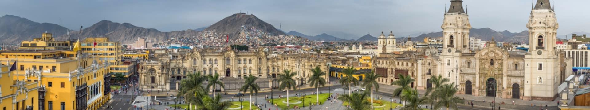 Ponto turístico Praça Principal Lima Peru