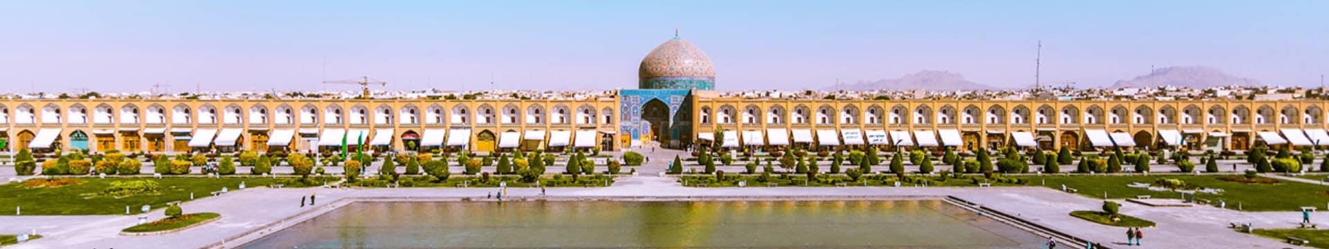 Praça de Naqsh-e Jahan em Isfahan - Irã.