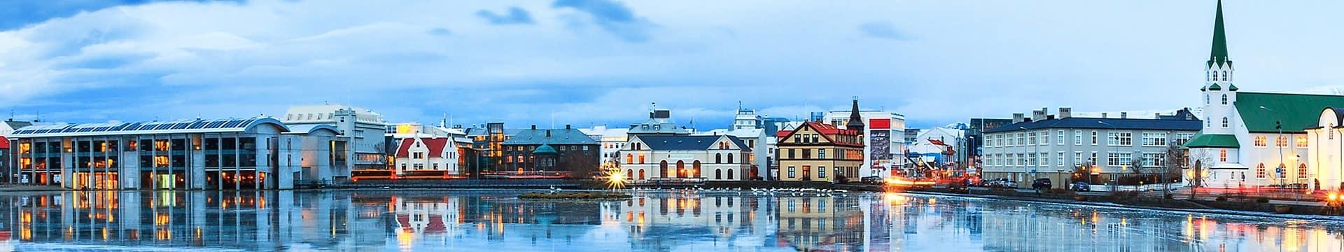 Skyline de Reykjavik, Islândia