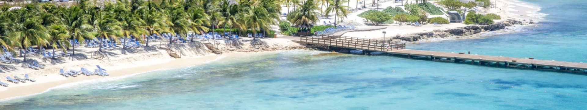 Vista aéra ilha Grand Turk