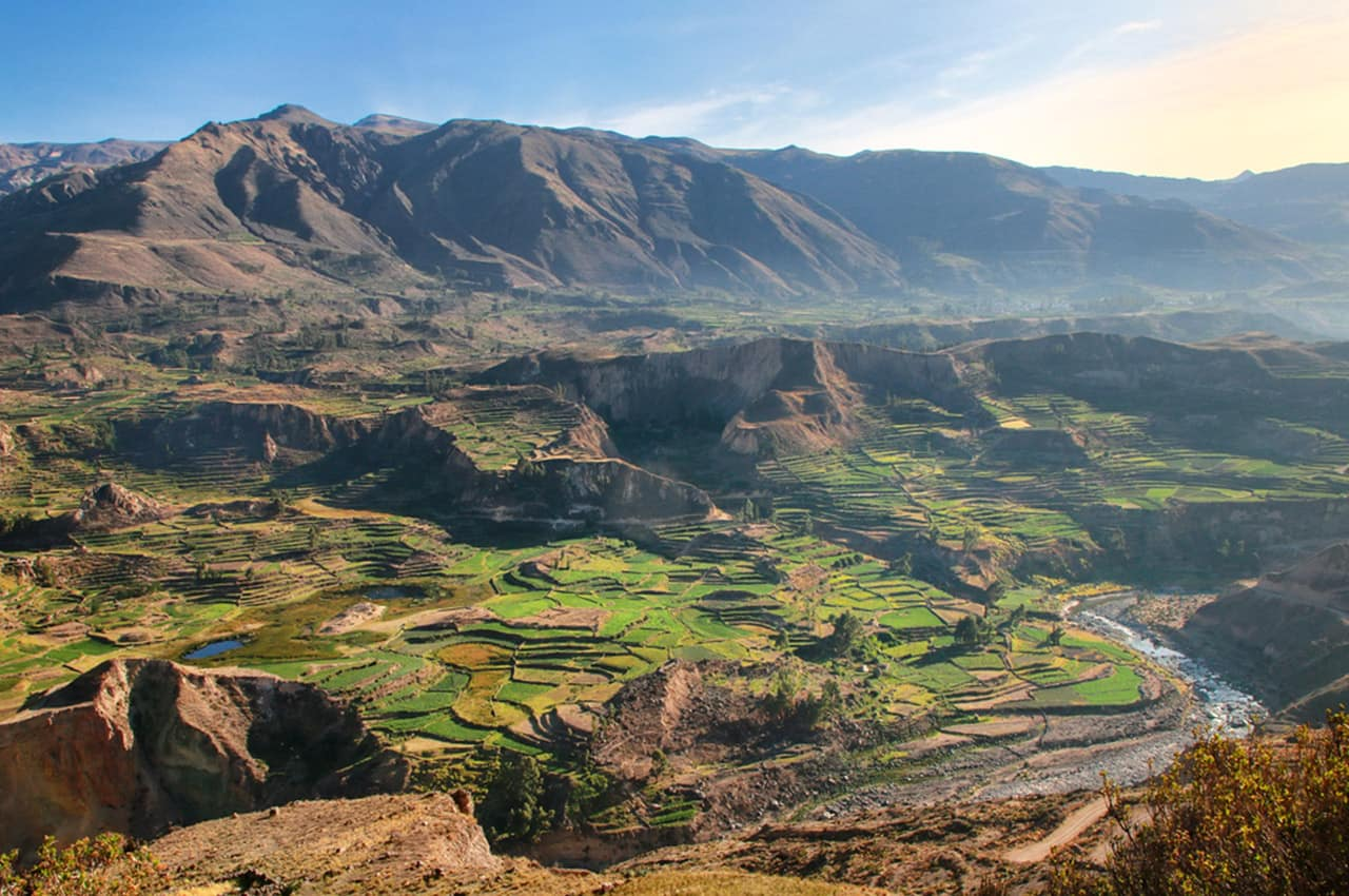 Colca valley is located about 100 kilometers northwest of arequipa peru