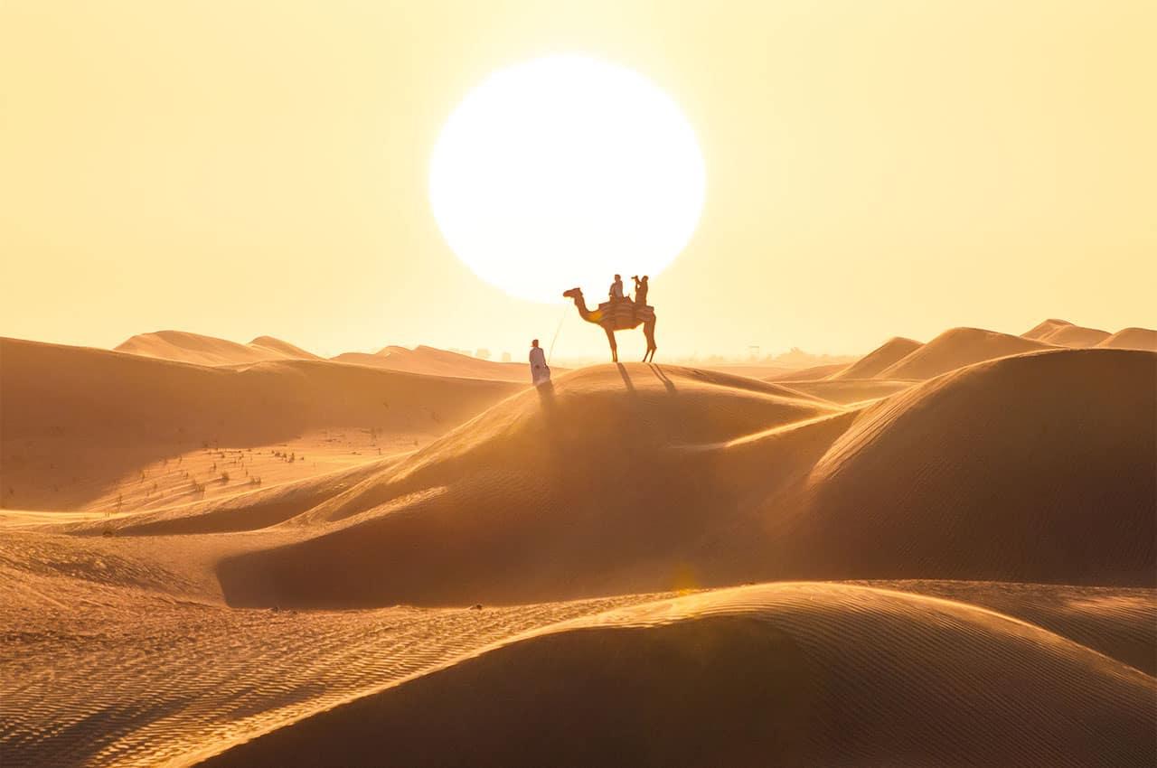 Deserto dubai dunas