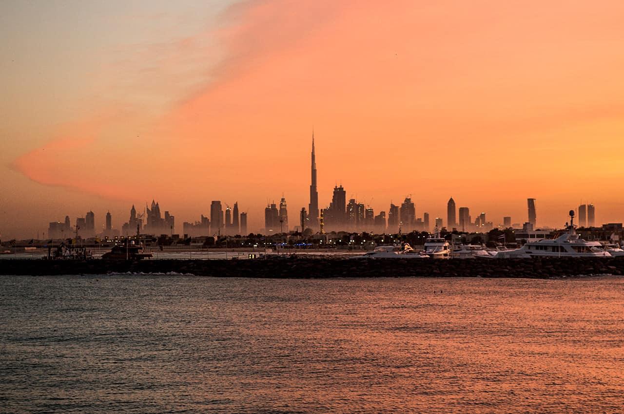 Dubai nascer do sol