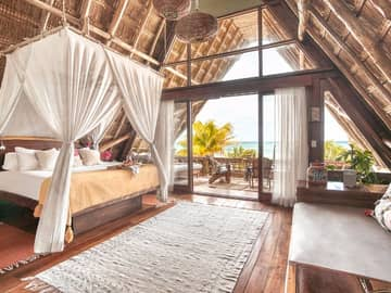 Ahau tulum quarto master suite ocean front top level