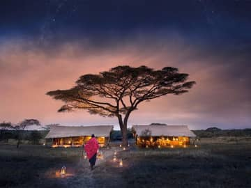 Anoitecer serengeti andbeyond