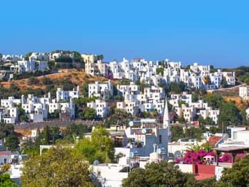 Arquitetura Aegean, Bodrum, Turquia