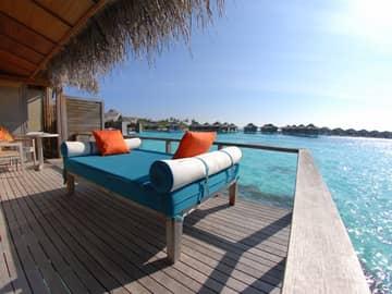 Bangalô sobre águas, Anantara Veli Maldives Resort, Ilhas Maldivas