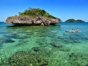 Caiaque praia ilhas Filipinas