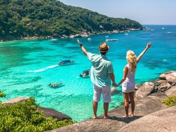 Casal lua de mel ilha Tailândia