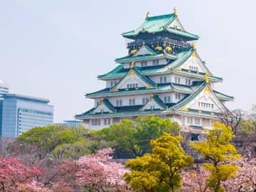 Castelo Osaka, Osaka, Viagem Japão