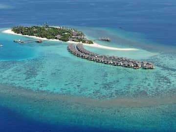 Cora cora maldives vista aerea