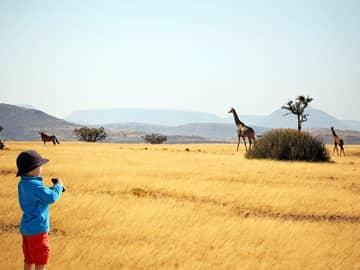 Crianca africa safari