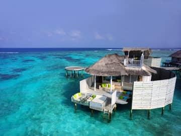 Laamu water villa, Six Senses Laamu, Ilhas Maldivas