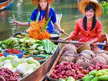 Mercado flutuante ratchaburi adonweb