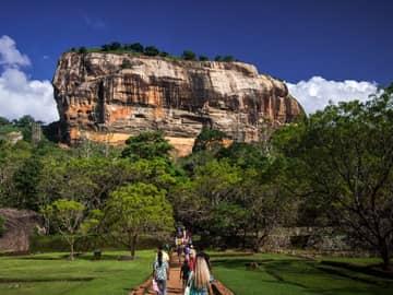 Ponto turístico Lion Rock, Cidade Antiga Sigiriya, Sri Lanka