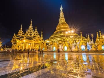 Ponto turístico Myanmar, Pagoda Shwedagon, Yangona shwedagon yangon