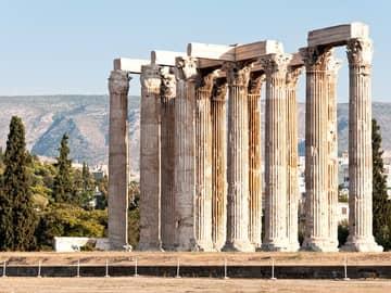 Ruínas do templo de Zeus - Atenas, Grécia