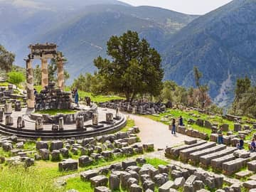 Tholos Santuário Athena, Pronaia, Delphi, Grécia