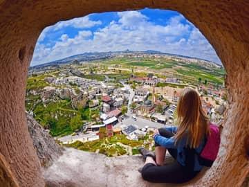 Vista aérea de Goreme, Capadócia - Turquia.