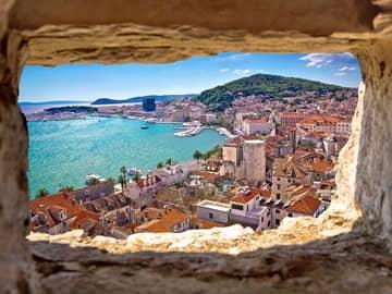 Vista aérea de Split, Croácia.