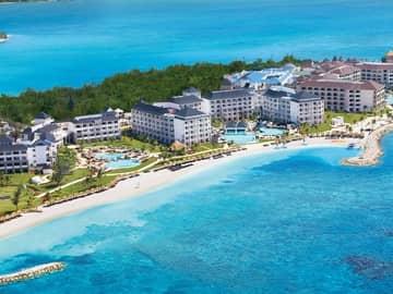 Vista aérea Secrets St James Montego Bay, Jamaica Hotel, Caribe