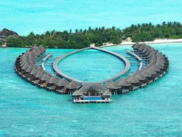 Vista aérea Taj Exotica Resort, Ilhas Maldivas