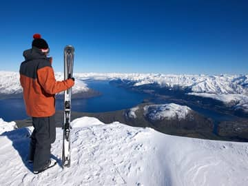 Vista da montanha Remarkables