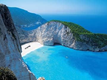 Atenas, Zaquintos, Míconos e Santorini