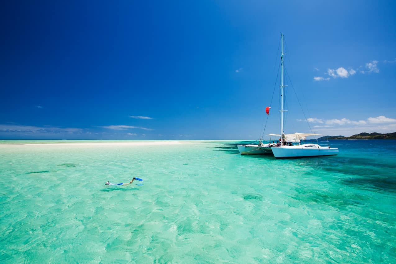 Atividade: mergulho catamarã, Ilhas Fiji