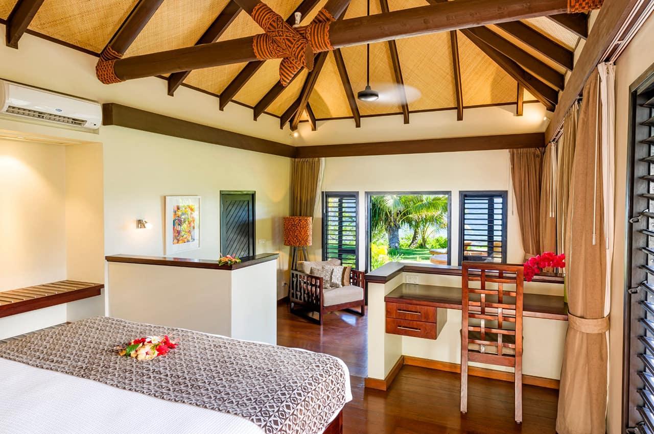 Interior Beachfront Villa, Matamanoa Island Resort