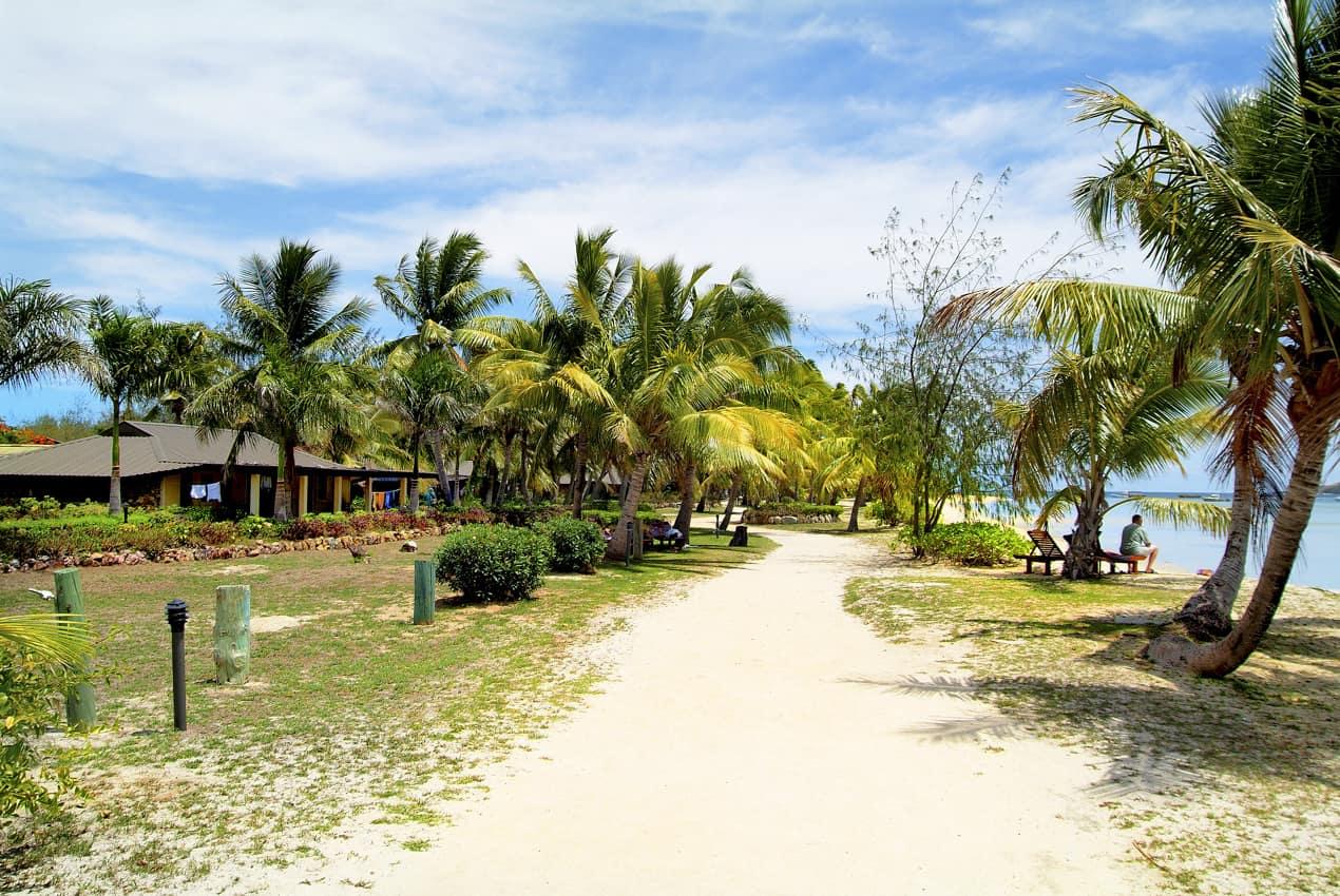 Praia ilha tropical Malolo Lailai, lhas Fiji