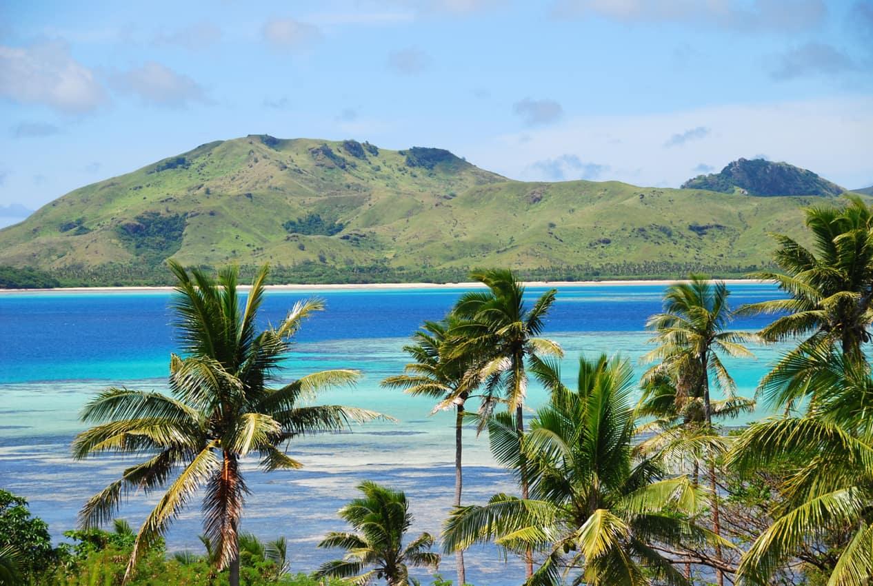 Praia paradisíaca lua de mel Ilhas Fiji