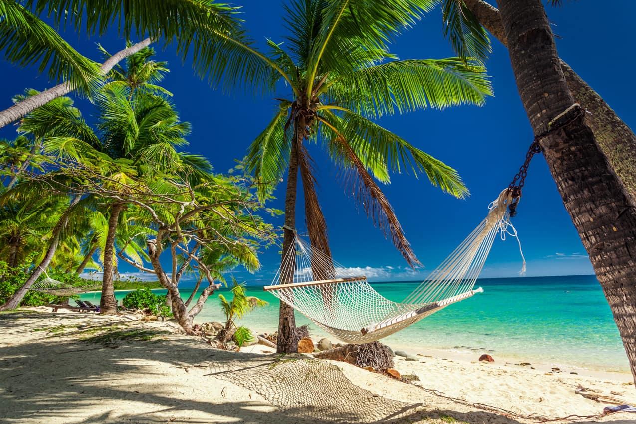 Rede praia paradisíaca lua de mel, Ilhas Fiji