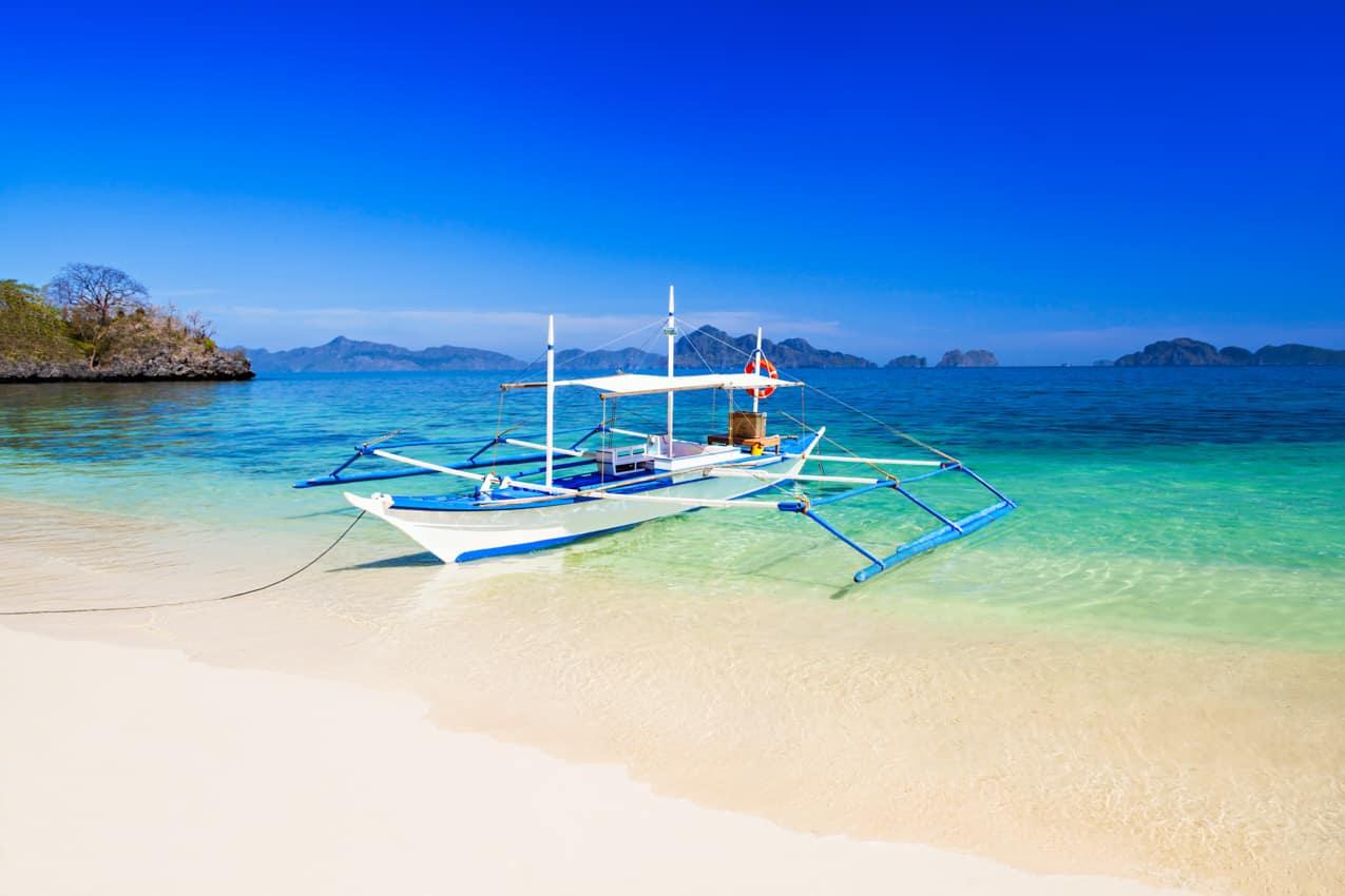 Barco filipino Boracay Filipinas