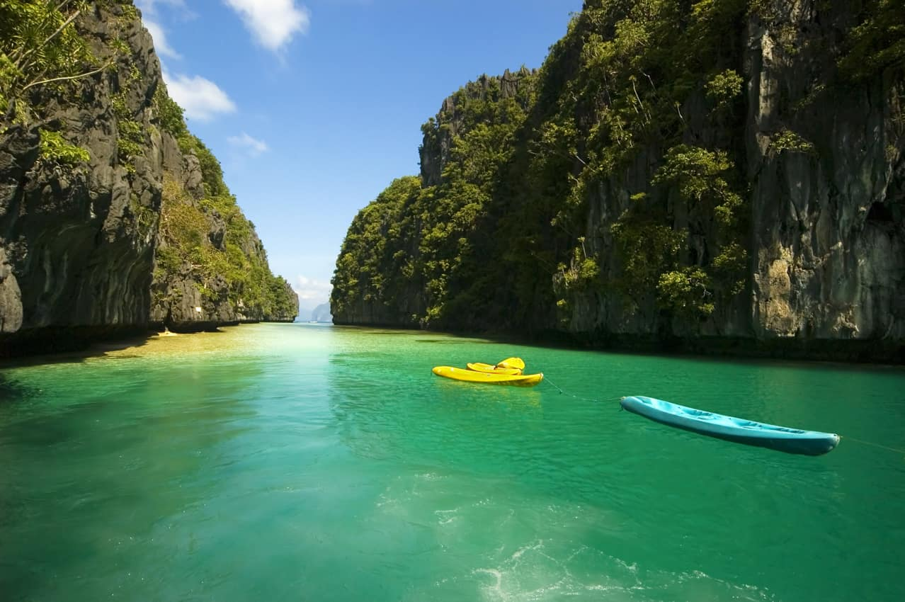 Caiaque Lagoa El Nido Palawan Filipinas